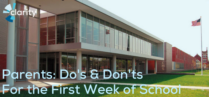 Parents: Do's & Don'ts for the First Week of School