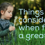 Things to Consider When Searching for a Great Sitter