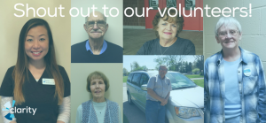 Shout out to Clarity volunteers!